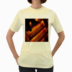 Magic Steps Stair With Light In The Dark Women s Yellow T-Shirt