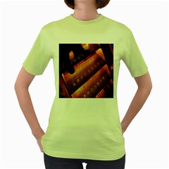 Magic Steps Stair With Light In The Dark Women s Green T-Shirt