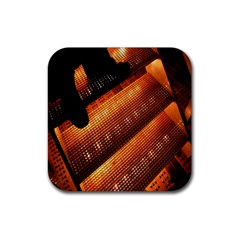 Magic Steps Stair With Light In The Dark Rubber Coaster (square)