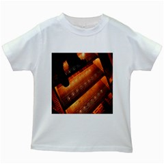 Magic Steps Stair With Light In The Dark Kids White T-Shirts