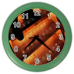 Magic Steps Stair With Light In The Dark Color Wall Clocks