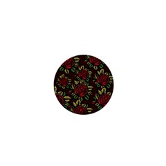 A Red Rose Tiling Pattern 1  Mini Buttons