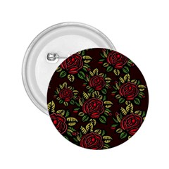 A Red Rose Tiling Pattern 2.25  Buttons