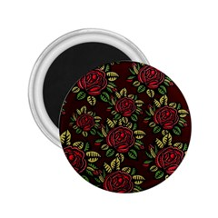 A Red Rose Tiling Pattern 2.25  Magnets