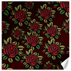A Red Rose Tiling Pattern Canvas 16  x 16