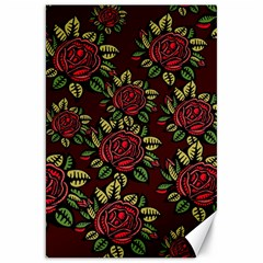 A Red Rose Tiling Pattern Canvas 20  X 30