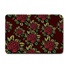 A Red Rose Tiling Pattern Small Doormat