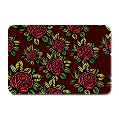 A Red Rose Tiling Pattern Plate Mats