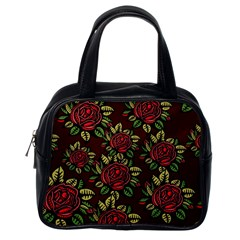 A Red Rose Tiling Pattern Classic Handbags (One Side)