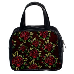 A Red Rose Tiling Pattern Classic Handbags (2 Sides)