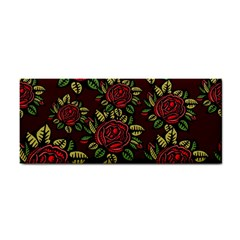A Red Rose Tiling Pattern Cosmetic Storage Cases
