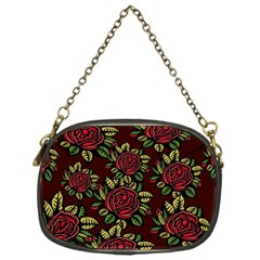 A Red Rose Tiling Pattern Chain Purses (One Side)