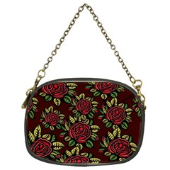 A Red Rose Tiling Pattern Chain Purses (Two Sides)