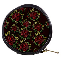 A Red Rose Tiling Pattern Mini Makeup Bags