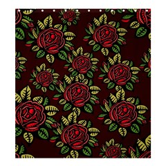 A Red Rose Tiling Pattern Shower Curtain 66  X 72  (large)