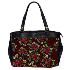 A Red Rose Tiling Pattern Office Handbags (2 Sides)
