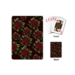 A Red Rose Tiling Pattern Playing Cards (mini)