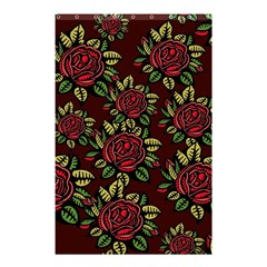 A Red Rose Tiling Pattern Shower Curtain 48  X 72  (small)