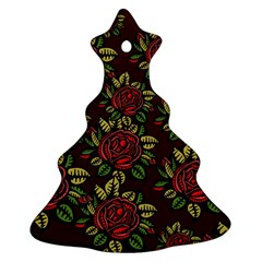 A Red Rose Tiling Pattern Ornament (Christmas Tree)