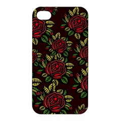 A Red Rose Tiling Pattern Apple iPhone 4/4S Premium Hardshell Case