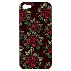 A Red Rose Tiling Pattern Apple Iphone 5 Hardshell Case
