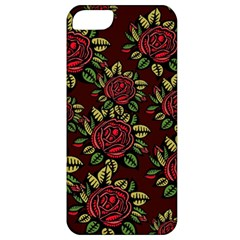 A Red Rose Tiling Pattern Apple Iphone 5 Classic Hardshell Case