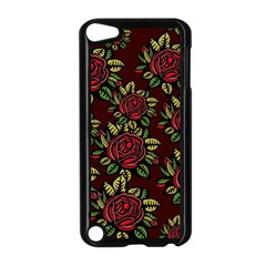 A Red Rose Tiling Pattern Apple iPod Touch 5 Case (Black)