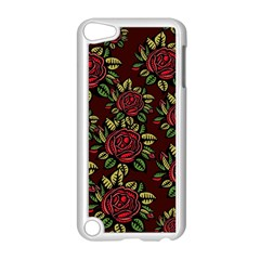 A Red Rose Tiling Pattern Apple Ipod Touch 5 Case (white)