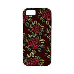A Red Rose Tiling Pattern Apple Iphone 5 Classic Hardshell Case (pc+silicone)