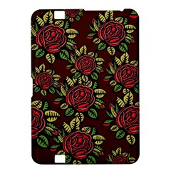 A Red Rose Tiling Pattern Kindle Fire HD 8.9