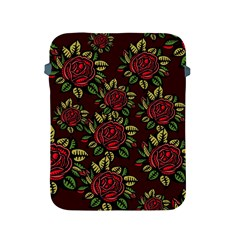 A Red Rose Tiling Pattern Apple iPad 2/3/4 Protective Soft Cases