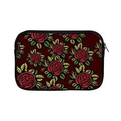 A Red Rose Tiling Pattern Apple Ipad Mini Zipper Cases