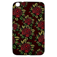 A Red Rose Tiling Pattern Samsung Galaxy Tab 3 (8 ) T3100 Hardshell Case