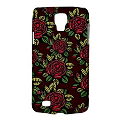 A Red Rose Tiling Pattern Galaxy S4 Active