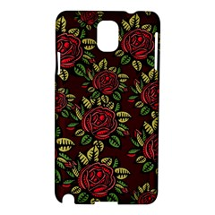 A Red Rose Tiling Pattern Samsung Galaxy Note 3 N9005 Hardshell Case