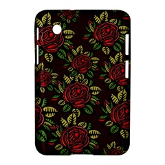 A Red Rose Tiling Pattern Samsung Galaxy Tab 2 (7 ) P3100 Hardshell Case