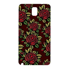 A Red Rose Tiling Pattern Samsung Galaxy Note 3 N9005 Hardshell Back Case