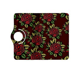 A Red Rose Tiling Pattern Kindle Fire Hdx 8 9  Flip 360 Case