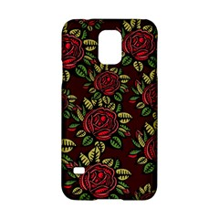 A Red Rose Tiling Pattern Samsung Galaxy S5 Hardshell Case