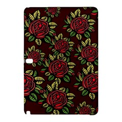 A Red Rose Tiling Pattern Samsung Galaxy Tab Pro 10.1 Hardshell Case