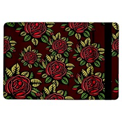 A Red Rose Tiling Pattern iPad Air Flip