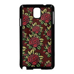 A Red Rose Tiling Pattern Samsung Galaxy Note 3 Neo Hardshell Case (black)