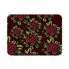 A Red Rose Tiling Pattern Double Sided Flano Blanket (Mini)