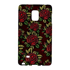 A Red Rose Tiling Pattern Galaxy Note Edge