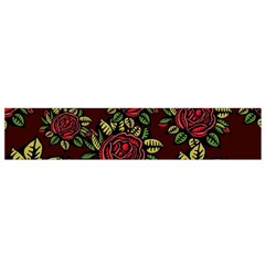 A Red Rose Tiling Pattern Flano Scarf (Small)