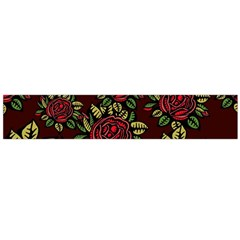 A Red Rose Tiling Pattern Flano Scarf (large)