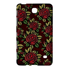 A Red Rose Tiling Pattern Samsung Galaxy Tab 4 (8 ) Hardshell Case