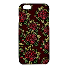 A Red Rose Tiling Pattern iPhone 6/6S TPU Case