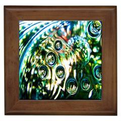 Dark Abstract Bubbles Framed Tiles