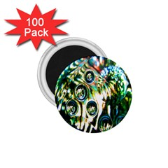 Dark Abstract Bubbles 1.75  Magnets (100 pack)